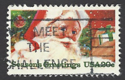 Scott# 2064 Christmas Contemporary with quot;WE MEET THE CHALLENGEquot; slogan A 1 $1.10