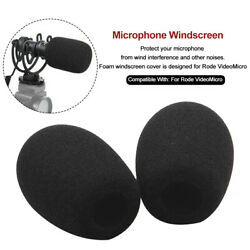 2pcs Breathable Windscreen Foam Filter Reusable Professional For RODE VIDEOMICRO $10.05