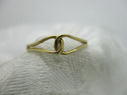 VINTAGE ESTATE JEWELRY 14K SOLID GOLD MODERN ENTWINED LOOP RING SIZE 7 1 4 $60.00