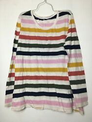 caslon xxl striped colorful color block thin trendy long sleeve shirt runs small $15.00