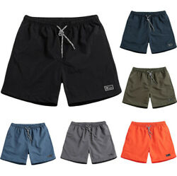 Men#x27;s Summer Plus Size Thin Fast drying Beach Trousers Casual Sports Short Pants $12.08