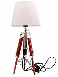 Collectible Nautical Floor Shade Light Lamp Brown Wooden Stand Decor Lamp $112.22