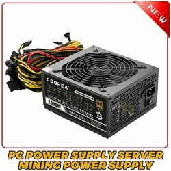 2000W Desktop PC Power Supply Server Support 62 Graphics Cards Mining Power $142.49
