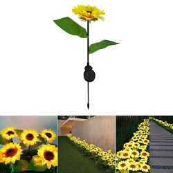 Solar Waterproof Sun Flower Lamps Solar Landscape Lights Pathway Ornament $11.81