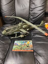 Vintage G.I. JOE GI Joe Dragonfly Helicopter for 3.75quot; Paper Hasbro 1983 $160.00