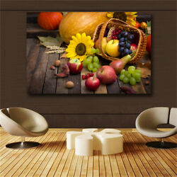 Red Apple Wall Art Pictures Food Painting Kitchen Decor Canvas Painting Posters $16.90