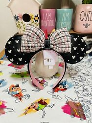 Disney Minnie Ear Headband with Bow – Tweed amp; Pearl Gift With Purchase $34.95