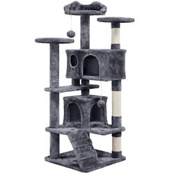 Cat Tree Condo Pet Furniture Activity Tower Play House with Scratching Posts $59.99