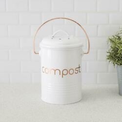 Grove Compact Countertop Compost Bin White $22.07