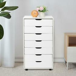 7 Drawer Dresser Clothing Storage Chest Beside Wall Bedroom Save Space Indoor $97.98