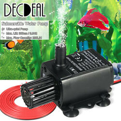 12V DC Small Brushless Pump Waterproof Submersible Pump Water Pump 280L H F4R0 $9.38