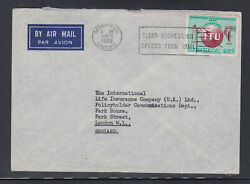 Liberia # 429 Commercial Cover to England ITU Centenary