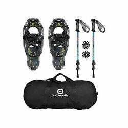 OUTBOUND Snowshoes Kit Lightweight Aluminum Snowshoes with Adjustable $200.75