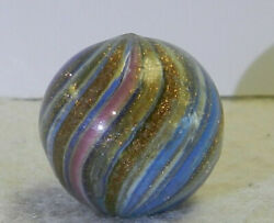 #11798m Large .78 Inches German Handmade Onionskin Lutz Marble $289.99