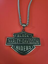 Biker Jewelry Black Harley Riders Necklace quot;Heavyquot;