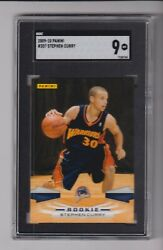 2009 10 PANINI #307 STEPHEN CURRY RC WITH SGC 9 GRADE GOLDEN STATE $299.95