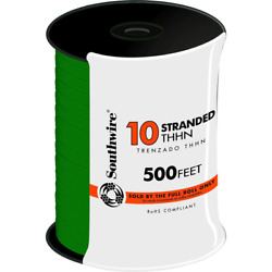 500 ft. 10 Green Stranded CU THHN Wire Commercial Wiring Heat and UV Resistant