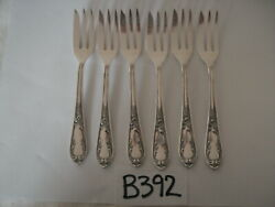 ROCOCO VINTAGE 100 RS SILVER OVERLAY PLATED PASTRY CAKE FORKS X 6 GBP 45.00