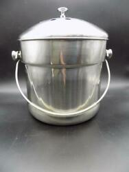 Endurance Compost Pail Extra Large 1.5 gal. Stainless Steel No Filter 18 8 EUC $17.95