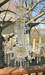 Elegant Fifth Avenue Crystal Five Arm Hanging Chandelier $192.50