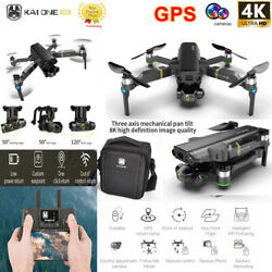 PRO GPS RC Drone 8K HD 3 Axis Gimbal Camera 5G Wifi FPV Quadcopter Brushless US $197.65