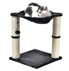 Basics Cat Condo Tree Tower with Hammock Bed and Scratching Post $34.99