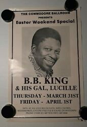 B B King and His Gal Lucille Easter Weekend 1983 Original Advertising Poster $25.00
