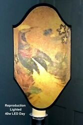 PAIRPOINT LAMP SHADE Double Arch SHIELD No.6 REPRODUCTION quot;Bird of Paradisequot; $125.00