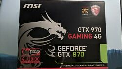 Nvidia Gtx 970 MSI Gaming 4G With Original Box and Accessories $229.99