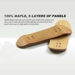 Mini Wooden Finger Skateboard Alloy Stent Fingerboard Novelty Kids Toys USA $7.59