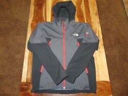 The North Face Summit Series Windstopper Black HOODED Full Zip Jacket Men#x27;s L $69.95