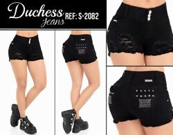 DUCHESS SKIRT SHORT BLACK COLOMBIANOS COLOMBIAN PUSH UP JEANS LEVANTA COLA $59.99