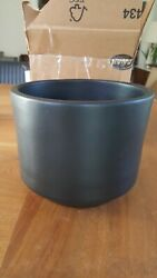 Mid Century Modern Architectural Vtg. Gainey CA Black C8 Pottery Planter $175.00