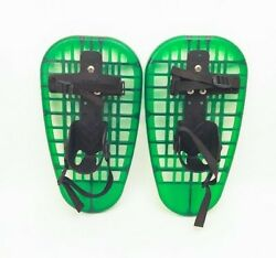 L.L. Bean 16quot; Youth SNOWSHOES LITTLE BEAR GRIZZLY Up to 9quot; Shoe Age 5 12 Green $29.99