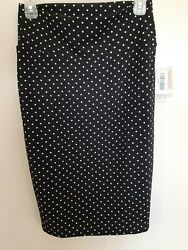 Lularoe Cassie Skirt Size Small Black with White Dots $17.00