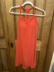 Prana Pink Quinn Dress Size Small With Built In Bra W3QUIN110 $20.00