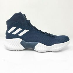 Adidas Mens Pro Bounce 2018 AH2666 Navy Blue White Running Shoes Lace Up Size 9 $53.99