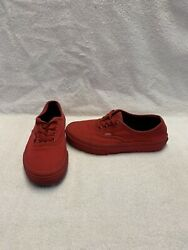 Vans Off The Wall Boys All Red Shoes size 2 Y $18.00