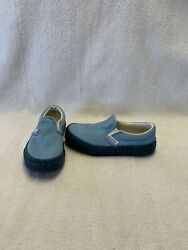 Vans Off The Wall Girls Blue Glitter Shoes size 12 C $18.00