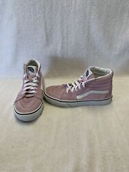 Vans Off The Wall Girls Pink white Hightop Shoes size 3 Y $18.00