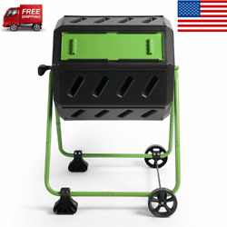 Hot Frog 37 Gal. Mobile Dual Chamber Compost Tumbler $140.50