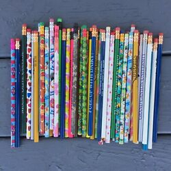 Pencils # 2 lead lot of 50 variety holiday business university advertisement $9.56