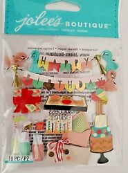 Mod Birthday Cake Gifts Party Jolee#x27;s 3D Stickers $2.88