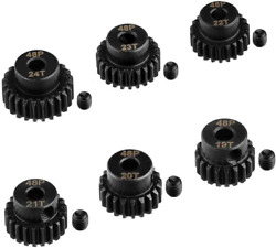 6PCS 48DP RC Motor Pinion Gear Set 19T 24T ¢3.175mm Motor Gears Parts Kit for 1 $19.99