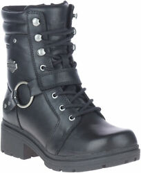 Harley Davidson Women#x27;s Tegan 6 Inch Motorcycle Lace Harness Boots D84706 $134.95