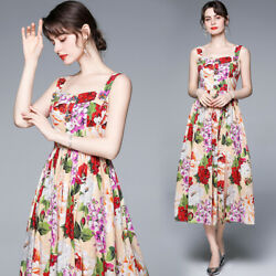 womens sexy print Floral summer dress 2021 runway clothes holiday party dresses $28.99