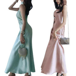 Womens Formal Strappy Long Slip Dresses Bridesmaid Wedding Party Gown Maxi Dress $22.59