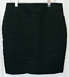 Dalia Collection Black Short Skirt w lines Size 4 $9.75