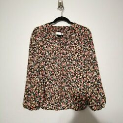 LOFT Petite Floral Long Sleeve Blouse Top Size XS $6.00