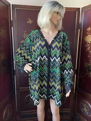 CATHERINES Women's Plus Size 4X TRENDY COLORFUL BUTTON SHIRT Top Blouse GREAT $16.88